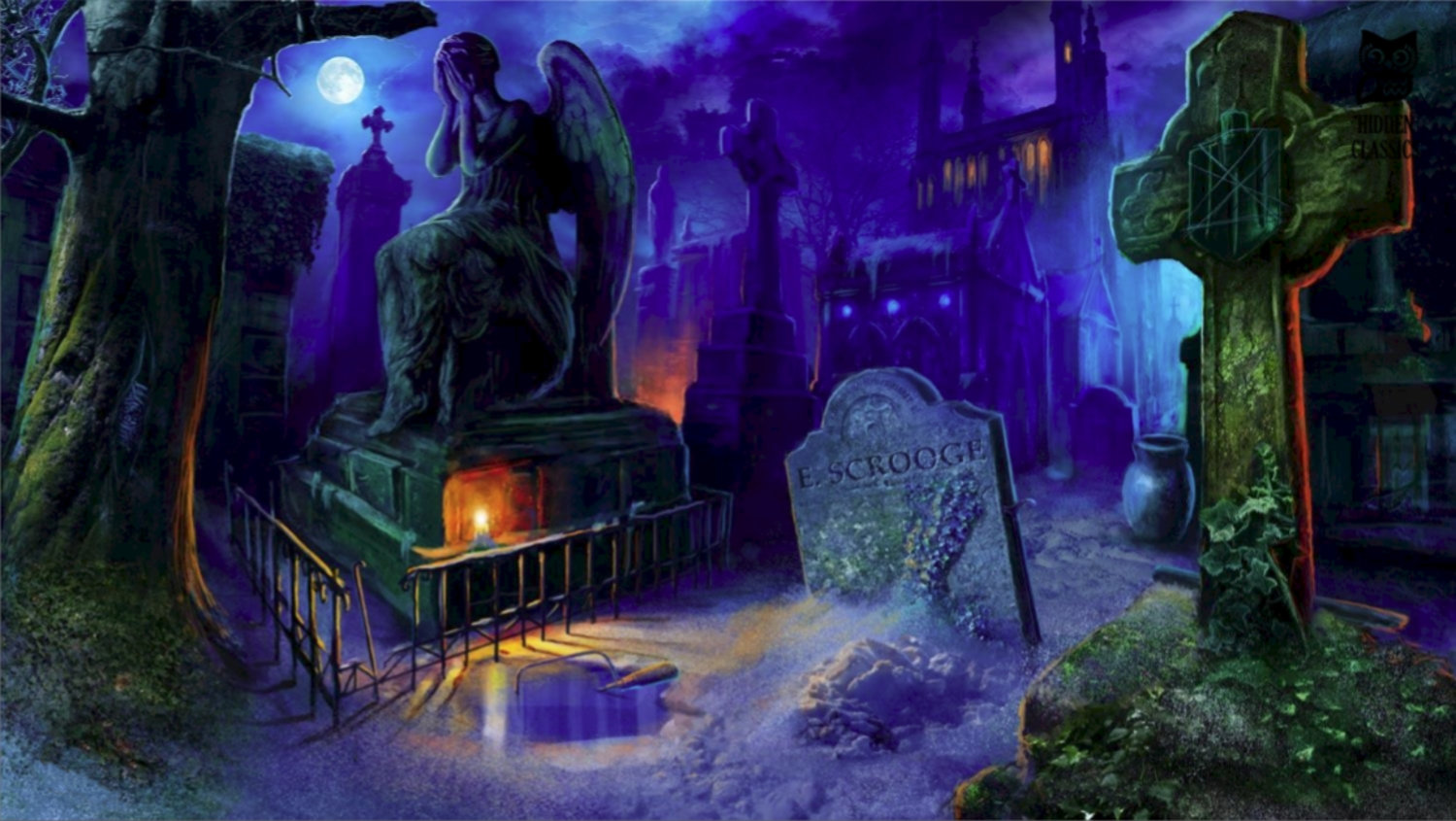 Game Play Scene Scrooge's Grave