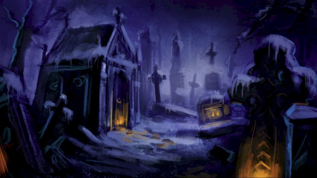 Graveyard Leading To Scrooge's Grave